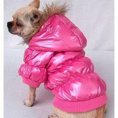 Větrovka pro psa - péřová, růžová, XL