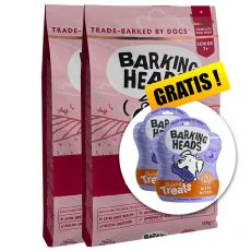 BARKING HEADS Golden Years SENIOR 2 x 12 kg + DÁREK