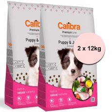 Calibra Dog Premium Line Puppy & Junior 2 x 12 kg NEW