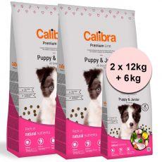 Calibra Dog Premium Line Puppy & Junior 2 x 12 kg + 6 kg NEW