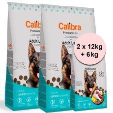 Calibra Dog Premium Line Adult Large 2 x 12 kg + 6 kg NEW