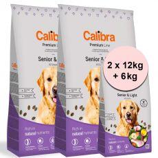 Calibra Dog Premium Line Senior & Light 2 x 12 kg + 6 kg NEW