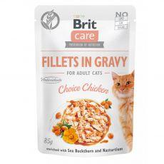 Brit Care Cat Fillets in Gravy Choice Chicken 85 g