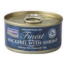 Fish4cats Finest Mackerel & Shrimp 70 g