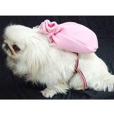 Batoh pro psa s tělovým postrojem - růžový
