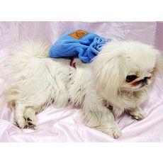 Batoh pro psa s tělovým postrojem - modrý