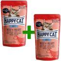 Kapsička Happy Cat ALL MEAT Adult Beef & Heart 85 g 1+1 ZDARMA