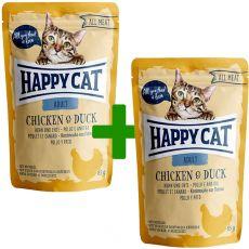 Kapsička Happy Cat ALL MEAT Adult Chicken & Duck 85 g 1+1 ZDARMA