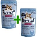 Kapsička Happy Cat ALL MEAT Adult Sterilised Chicken & Trout 85 g 1+1 ZDARMA