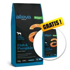 Alleva NATURAL dog fish & pumpkin adult medium/maxi 12 + 2 kg GRATIS