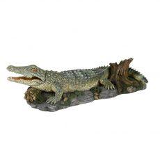 Dekorace - Krokodýl na skále