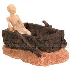 Dekorace - Kostlivec na lodi