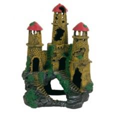 Akvarijní dekorace zřícenina hradu na kopci