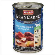 Konzerva GranCarno Fleisch Adult uzený úhoř + brambory - 400 g