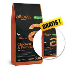 Alleva NATURAL dog chicken & pumpkin adult medium 12 + 2 kg GRATIS