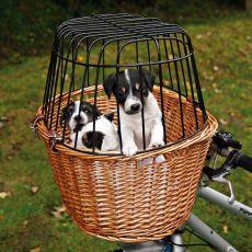 Košík na kolo pro psa s mřížkou 44 x 48 x 33 cm