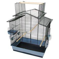 Klec pro papoušky IZA III - černá - 58,5 x 38 x 65 cm