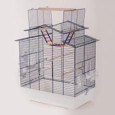 Klec pro papoušky IZA III - KOBALT - 58,5 x 38,5 x 65 cm