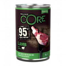 Wellness CORE Dog 95% jehně & dýně 400 g