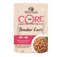 Wellness CORE Tender Cuts losos & tuňák 85 g