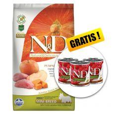 Farmina N&D dog GF PUMPKIN adult mini, boar & apple – 7 kg + DÁREK