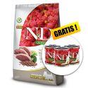 Farmina N&D dog QUINOA (GF) adult mini, neutered, duck, broccoli & asparagus 7 kg + DÁREK