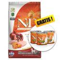 Farmina N&D dog GF PUMPKIN adult medium/maxi, chicken & pomegranate – 12 kg + DÁREK