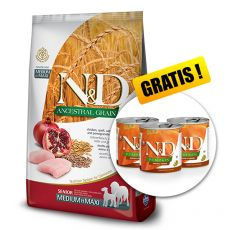 Farmina N&D dog LG SENIOR MEDIUM & MAXI Chicken & Pomegranate 12 kg  + DÁREK