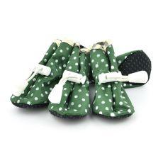 Boty pro psy, zelené puntíkované - vel. 5