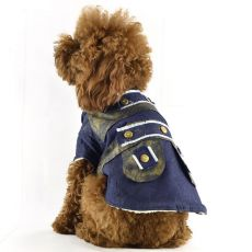 Bunda pro psa - riflová zateplená, XL