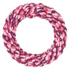 Bavlněný kruh pro psy, růžový - 14 cm
