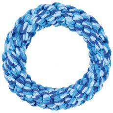 Bavlněný kruh pro psy, modrý - 14 cm