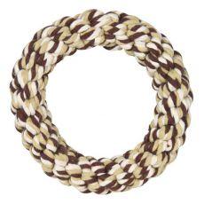 Bavlněný kruh pro psy, hnědý - 14 cm