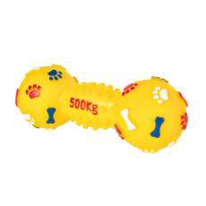 Hračka pro psy - vinylová činka, 19 cm