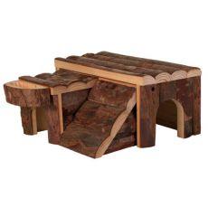 Domek pro hlodavce - dřevěný, 14 x 7 x 14 cm