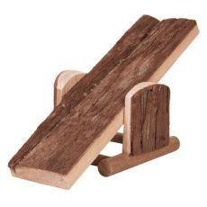 Houpačka pro hlodavce - dřevěná, 22 x 7 x 8 cm