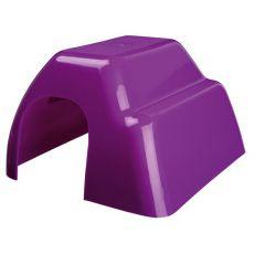 Domek pro hlodavce - plastový, barevný, 14 x 9 x 16 cm