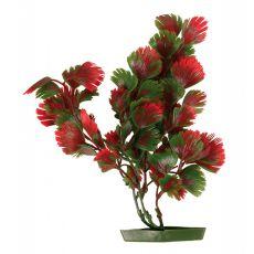 Rostlinka do akvária - plastová, 25 cm červenozelené listy