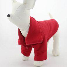 Mikina pro psa se zipem - červená, L