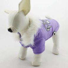 Větrovka pro psa s kapucí - fialová, XS
