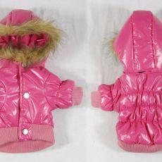 Větrovka pro psa - růžová s kapucí, XL