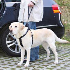 Vodítko pro psa černé barvy, krátké  - 27 cm
