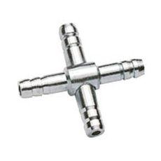 Rozvodka na vzduchovací hadičku 4/6 mm - Kříž kovový