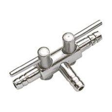 Rozvodka na hadičku 4/6 mm - s ventilem, 2-směrová