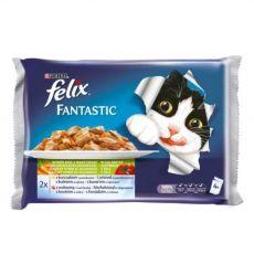 Kapsičky pro kočky FELIX - ryby se zeleninou v želé, 400 g