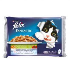 Kapsičky pro kočky FELIX - maso se zeleninou v želé, 400 g