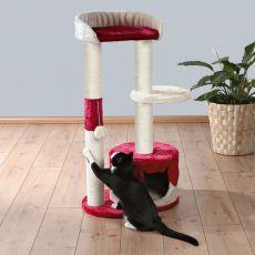 Drápadlo pro kočky PILAR - béžovo červené, 100 cm