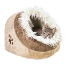 Plyšový pelech Minou pro psy a kočky - 41 x 30 x 50 cm