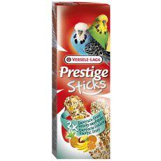 Tyčinky pro andulky PRESTIGE STICKS 2 ks - exotické ovoce, 60g