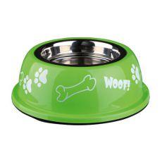 Miska pro psa s plastovým okrajem, zelená - 0,25 l